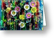 Representative Abstract Greeting Cards - The Meadow Greeting Card by David Raderstorf