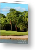Golf Digital Art Greeting Cards - The Meadows Golf Club 12th Greeting Card by Tom Prendergast