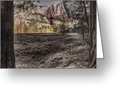 Selective Color Greeting Cards - The Meadows Sc Greeting Card by Stephen Campbell
