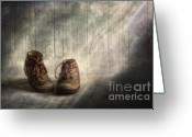 Photomanipulation Digital Art Greeting Cards - The memories begin to live .. Greeting Card by Veikko Suikkanen