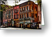 Merchant Greeting Cards - The Merchant Cafe - Seattle Washington Greeting Card by David Patterson