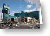 Las Vegas Greeting Cards - The MGM Grand Greeting Card by Andy Smy