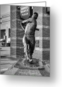 Baseball Print Greeting Cards - The Mick Greeting Card by Ricky Barnard