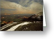 New Britain Greeting Cards - The Midnight On Malvern Hills Greeting Card by Angel  Tarantella
