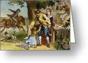 Paul Revere Greeting Cards - The Midnight Ride Of Paul Revere, 1775 Greeting Card by Photo Researchers