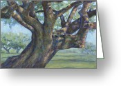 Treasures Greeting Cards - The Mighty Oak Greeting Card by Billie Colson