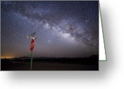 Milky Way Galaxy Greeting Cards - The Milky Way Is Undimmed By Outdoor Greeting Card by Jim Richardson