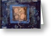 Wire Mixed Media Greeting Cards - The Milky Way Greeting Card by Sveta Shved