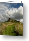 Cumulus Cloud Greeting Cards - The Mill at Aarup Greeting Card by Robert Lacy