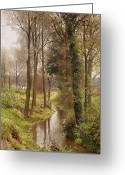 Wild Rivers Greeting Cards - The Mill Stream Greeting Card by Henry Sutton Palmer