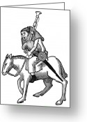 Canterbury Tales Greeting Cards - The Miller Greeting Card by Granger