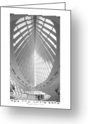 White Digital Art Greeting Cards - The Milwaukee Art Museum Greeting Card by Mike McGlothlen