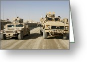 Armored Vehicles Greeting Cards - The Mine Resistant Ambush Protected All Greeting Card by Stocktrek Images