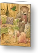 Couch Greeting Cards - The Missing Picture16 Greeting Card by Kestutis Kasparavicius
