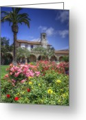 Old San Juan Greeting Cards - The Mission Greeting Card by Joan Carroll