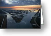 Southern States Greeting Cards - The Mississippi River Gulf Outlet Greeting Card by Tyrone Turner