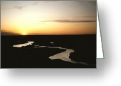 Refuges Greeting Cards - The Missouri Rivers Silvery Surface Greeting Card by James P. Blair