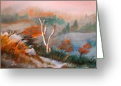 Lakes Pastels Greeting Cards - The Mist at Loch Awe Greeting Card by Arlene  Wright-Correll