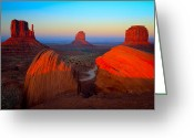 Monument Valley Photo Greeting Cards - The Mittens Greeting Card by Inge Johnsson
