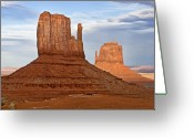 Monument Valley Photo Greeting Cards - The Mittens Greeting Card by Peter Tellone