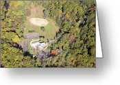 Chestnut Hill Wyndmoor Blue Bell Aerial Photographs Greeting Cards - The Monastery Stable 1000 Kitchens Lane Philadelphia Greeting Card by Duncan Pearson