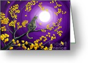 Laura Milnor Iverson Greeting Cards - The Moon Shone Upon Me Greeting Card by Laura Iverson