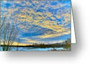Woods Pastels Greeting Cards - The morning show Greeting Card by Robert Pearson