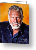 Beer Greeting Cards - The Most Interesting Man in the World II Greeting Card by Debora Cardaci