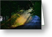 Sunset Scenes. Digital Art Greeting Cards - The mourning sun Greeting Card by Robert Pearson