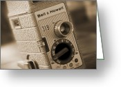 Camera Digital Art Greeting Cards - The Movie Camera Greeting Card by Mike McGlothlen