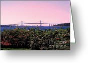 Photographs Digital Art Greeting Cards - The Mt Hope Bridge Greeting Card by Tom Prendergast