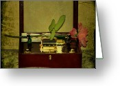 Music Box Greeting Cards - The Music Box Greeting Card by Bill Cannon