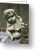 Guardian Angel Greeting Cards - The Musician 01 Greeting Card by Peter Piatt
