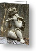 Guardian Angel Greeting Cards - The Musician 02 Greeting Card by Peter Piatt