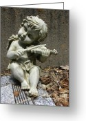 Musicians Glass Greeting Cards - The Musician 03 Greeting Card by Peter Piatt