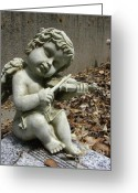 Guardian Angel Greeting Cards - The Musician 04 Greeting Card by Peter Piatt