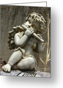 Guardian Angel Greeting Cards - The Musician 05 Greeting Card by Peter Piatt