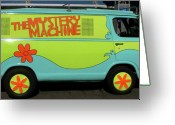 Lime Photo Greeting Cards - The Mystery Machine Greeting Card by Jera Sky