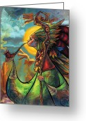 Featured Painting Greeting Cards - The Mystic Greeting Card by Jayson Green