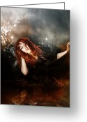 Magic  Digital Art Greeting Cards - The Mystic Greeting Card by Karen Koski