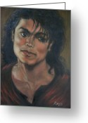 Michael Jackson Greeting Cards - The Mystique of Michael Jackson Greeting Card by Rose Mary Gates