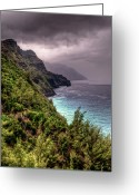 Na Pali Coast Kauai Greeting Cards - The Na Pali Coast Greeting Card by Natasha Bishop