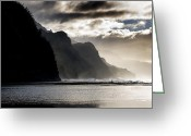 Na Pali Coast Kauai Greeting Cards - The Na Pali Coast on Kauai Hawaii Greeting Card by Brendan Reals