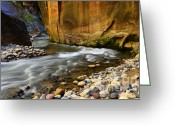 Sacred Earth Greeting Cards - The Narrows A Bend In The River Greeting Card by Bob Christopher