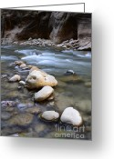Sacred Photo Greeting Cards - The Narrows One Step At A Time Greeting Card by Bob Christopher