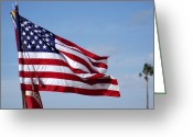United We Stand Greeting Cards - The National Colors And Official Colors Greeting Card by Stocktrek Images