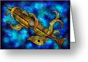 Leagues Greeting Cards - The Nautilus Greeting Card by Mandie Manzano