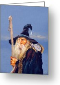Sorcerer Greeting Cards - The Navigator Greeting Card by J W Baker