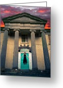 Scary Mansion Greeting Cards - The Necromantic Ritual Greeting Card by Semmick Photo