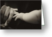 Gentle Touch Photo Greeting Cards - The need of touch Greeting Card by Marta Holka